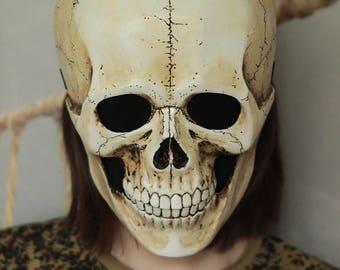 Skull Mask. Skeleton Mask. Halloween Mask. Death Mask.