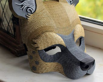 Hyena Mask. Animal Mask.