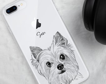 Pet Phone Case, Custom Dog Phone Case, Dog Portrait Phone Case, Dog iPhone 12 X XR 7 8 11 Pro Max, Personalized Pet Phone Case, Dog Gift