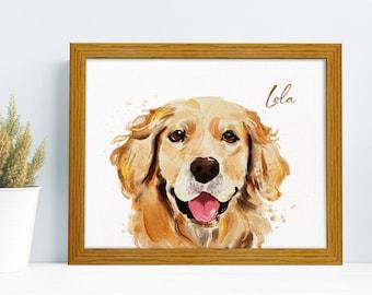 Pet Painting, Pet Portrait, Custom Pet Portrait, Custom Dog Portrait, Custom Watercolor Portrait, Dog Art, Dog Watercolor, Dog Painting