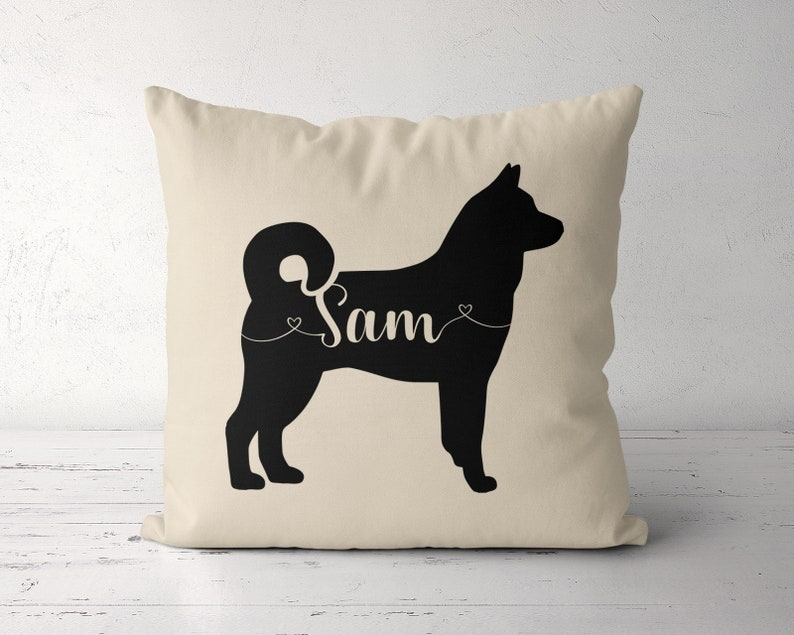 Custom Norwegian Elkhound Pillow, Personalized Elkhound Pillow Case Cover,  Birthday Gift for Elkhound Owner Lover, Elkhound Dog Mom