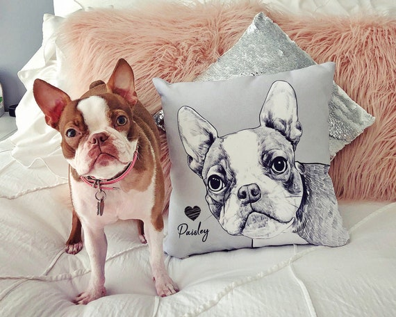 Personalized Pet Photo Pillow With Name