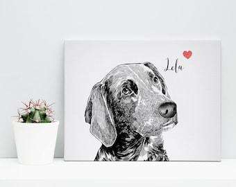 Custom pet canvas, custom pet portrait, pet portrait canvas, dog canvas, custom dog portrait, custom pet painting, custom dog painting