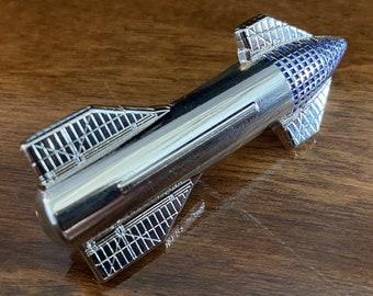 Starship 3D Enamel Pin