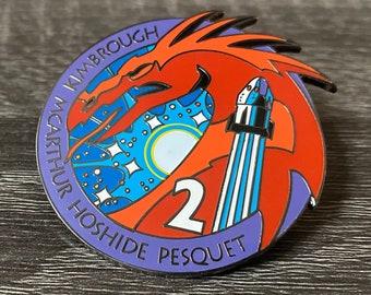 NASA Crew-2 USCV-2 Mission Patch Hard Enamel Pin