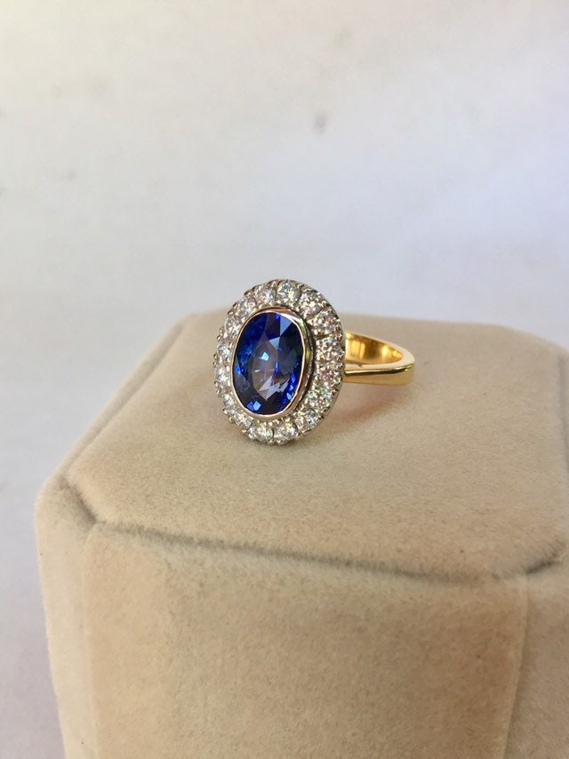 Antique Blue Sapphire Ring Gold