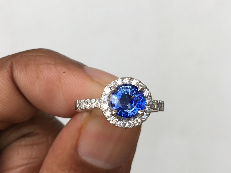 Fine Rings Size 7 Msrp $447 Fine Quality 14k Gold 2 Mm Diamond And Sapphire September Birthstone Ring Jewelry & Watches
