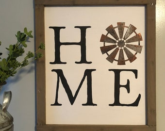 Farm house style HOME sign