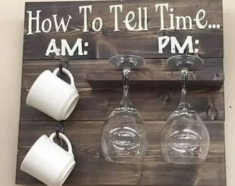 How to tell time wall rack