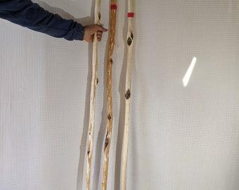 "Three 61-67-1/2"" Unfinished Diamond Willow Blanks (#1378)"