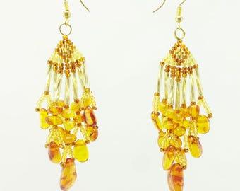 Amber chandelier etsy designer baltic amber chandelier earrings aloadofball Image collections