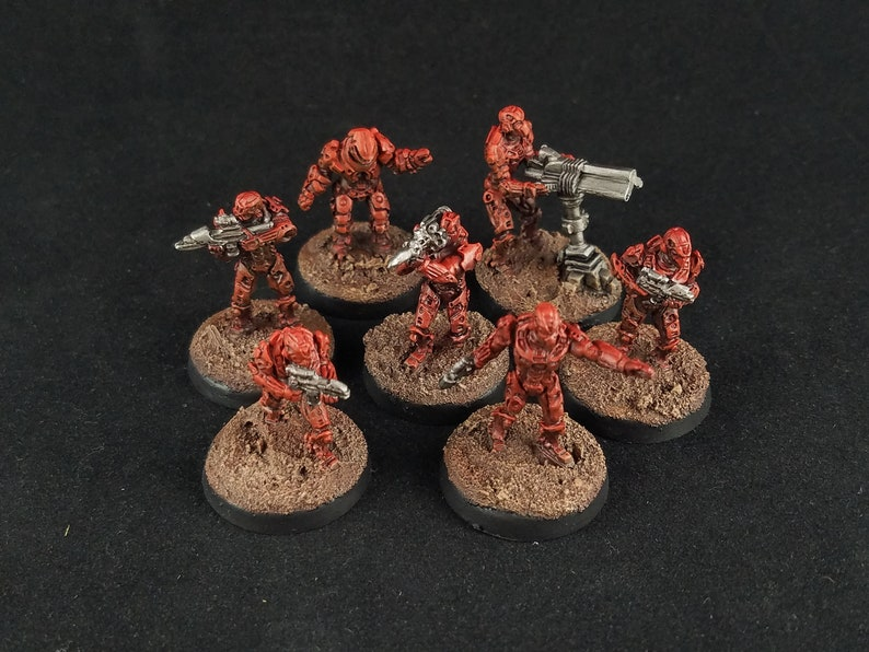 Sci Fi Battle Armor Troopers Red Team Etsy