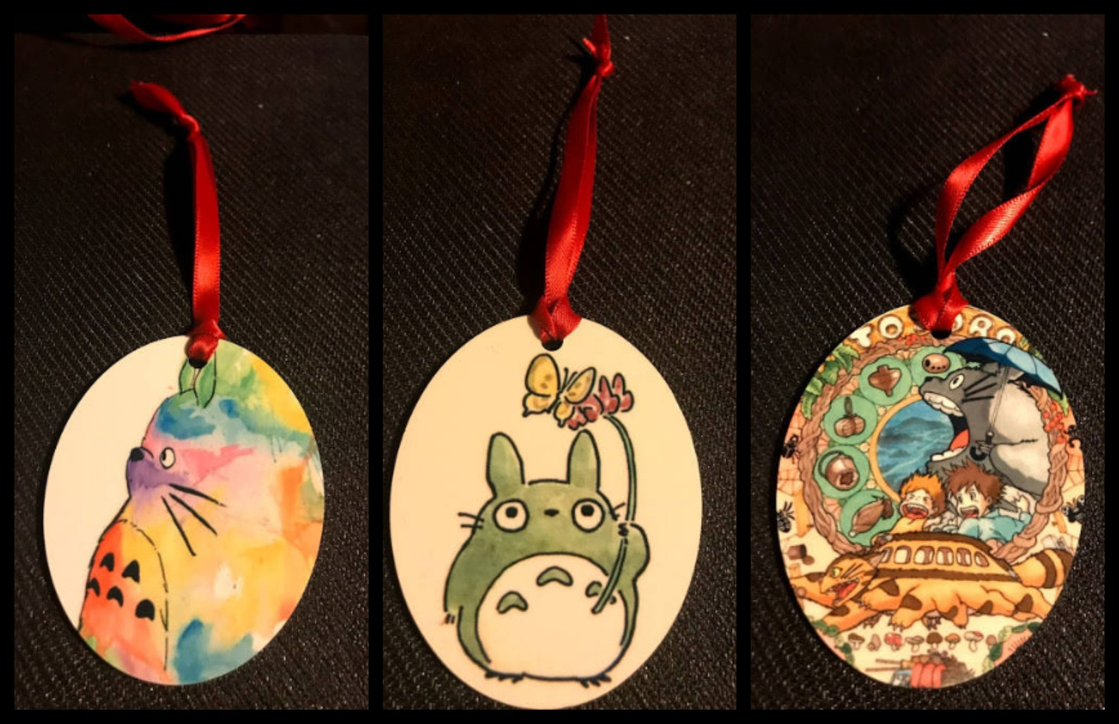 Totoro Inspired Christmas Tree Ornament NEW Can Personalize Shatterproof