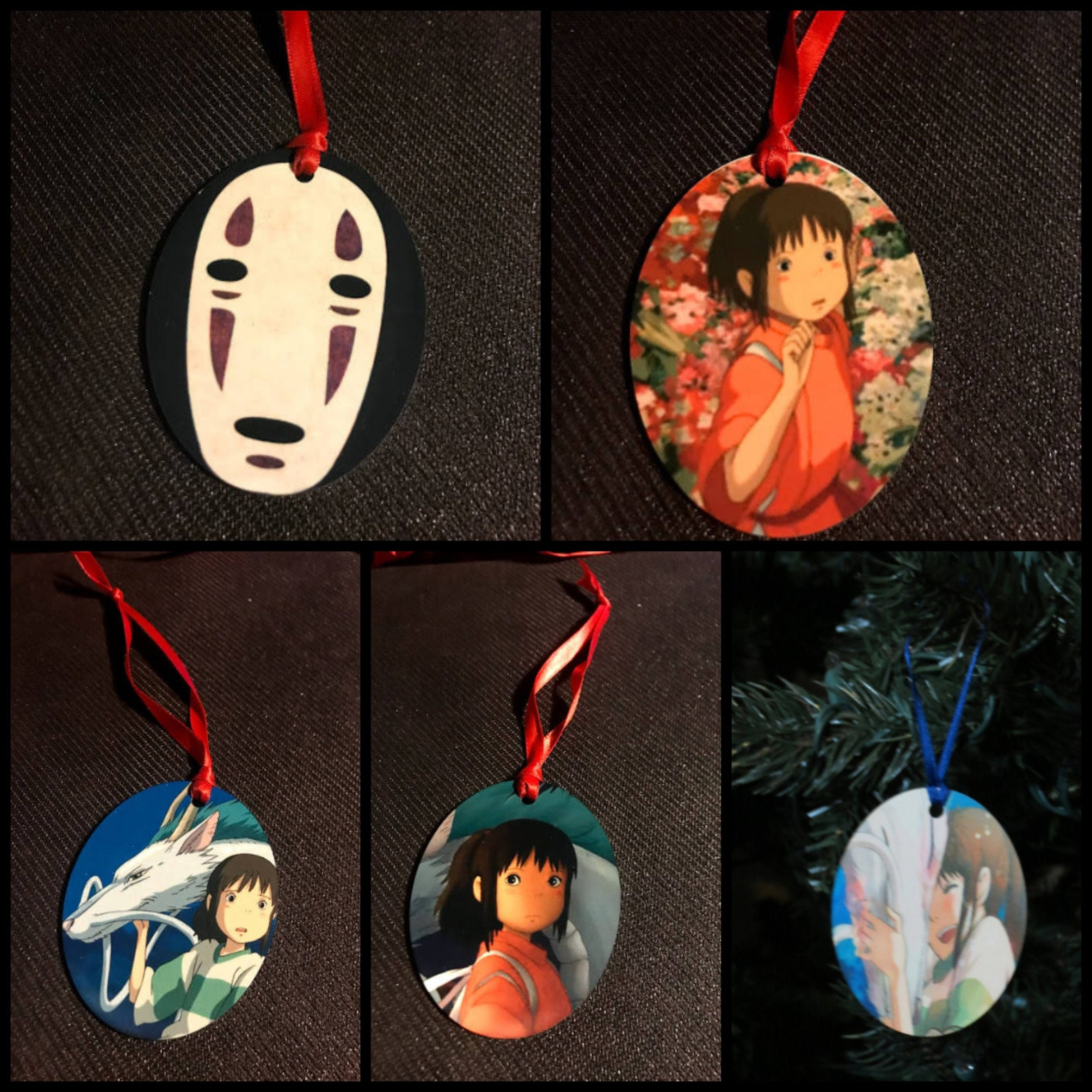 Spirited Away INSPIRED Christmas Tree Ornament New Can Personalize