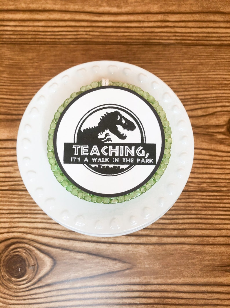 Jurassic Teaching Is A Walk In The Park Car Scents Personalized Teacher Gift Teacher Inspired Car Freshener