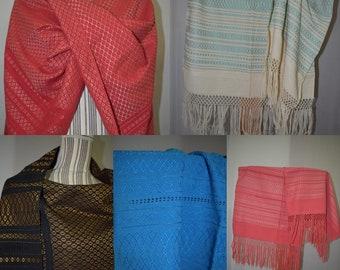 Rebozo mexicano chalina mexican rebozo scarf bufandas  e6b48d19243a