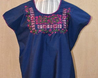 oaxaca blouse, embroidered, san antonino embroidery, mexican blouse, pensamientos,  blouse, blusa sin mangas mexicana, mexican top