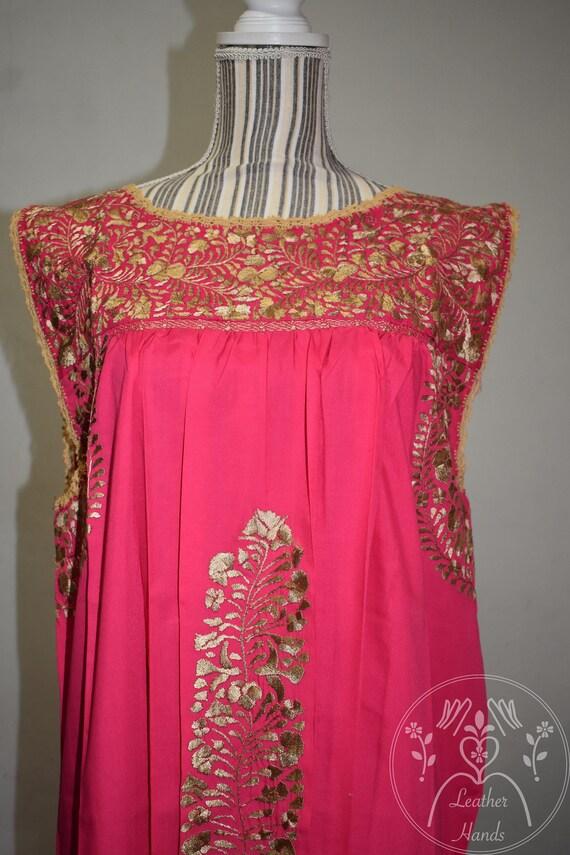 Mexikanische Bestickte San Antonino Kleid Ausgefallene Mexikanischen Kleid Schwarzen Mexikanischen Kleid Kurze Mexikanische Kleid Gold Stickerei