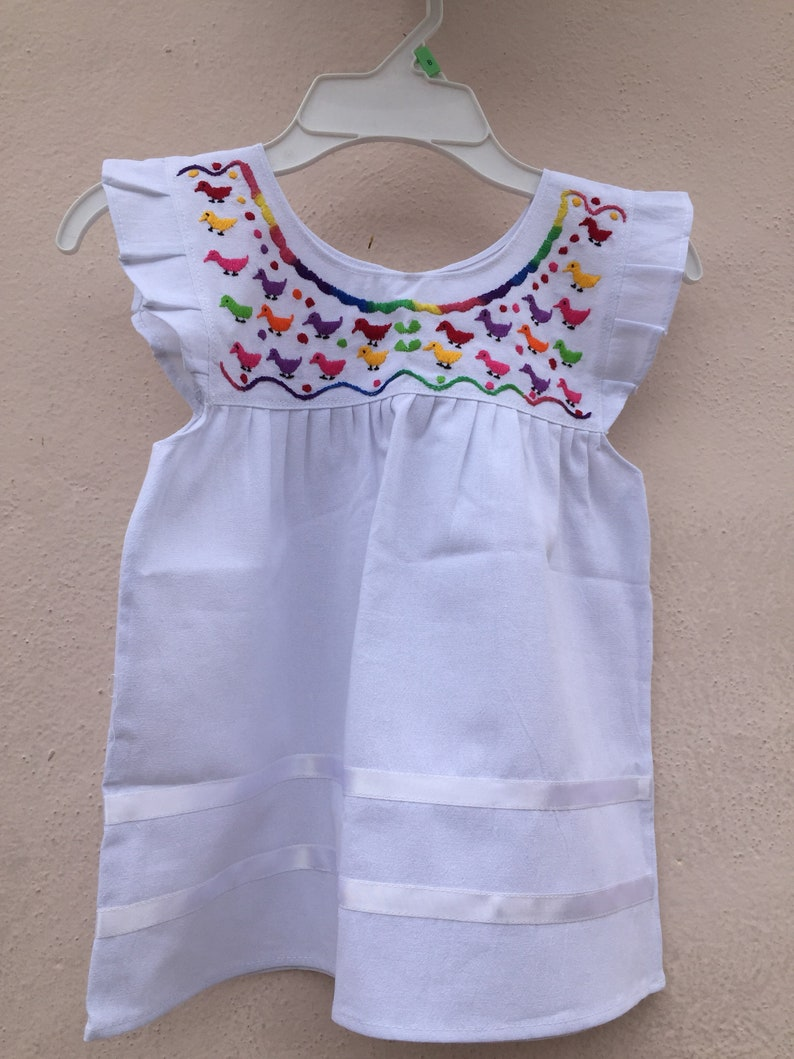 2cc04f37d Embroidered baby dress mexican baby dress embroidery baby | Etsy