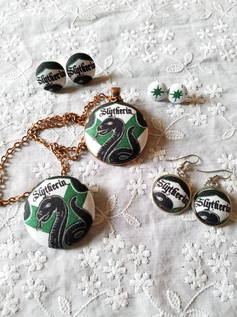 92b03e2b8 Slytherin Necklace/Slytherin Jewelry/Slytherin | Etsy
