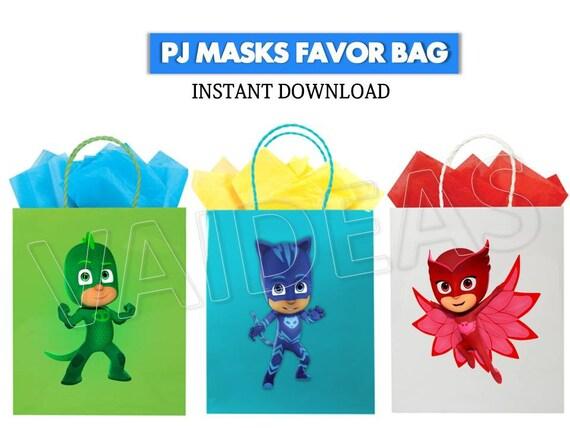 Elegant PJ MASKS Favor Bag Pj Masks Printables Pj Masks Party   Etsy