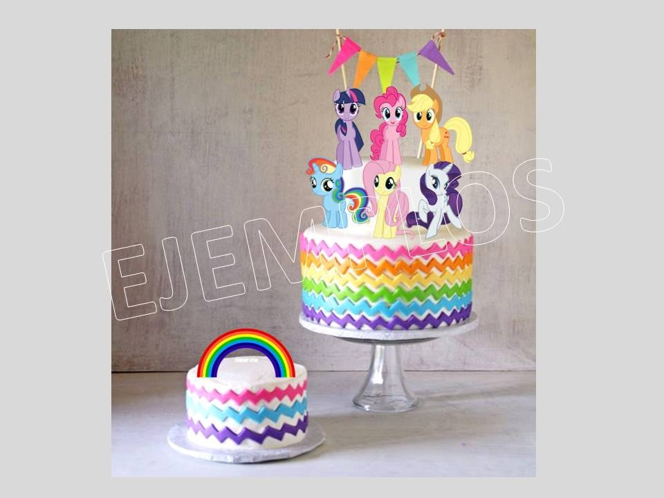 My Little Pony My Little Pony Cake Topper My Little Pony Etsy