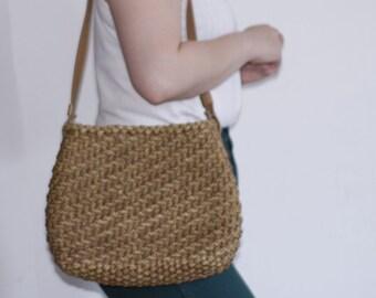 Vintage Straw Weave Purse Bag