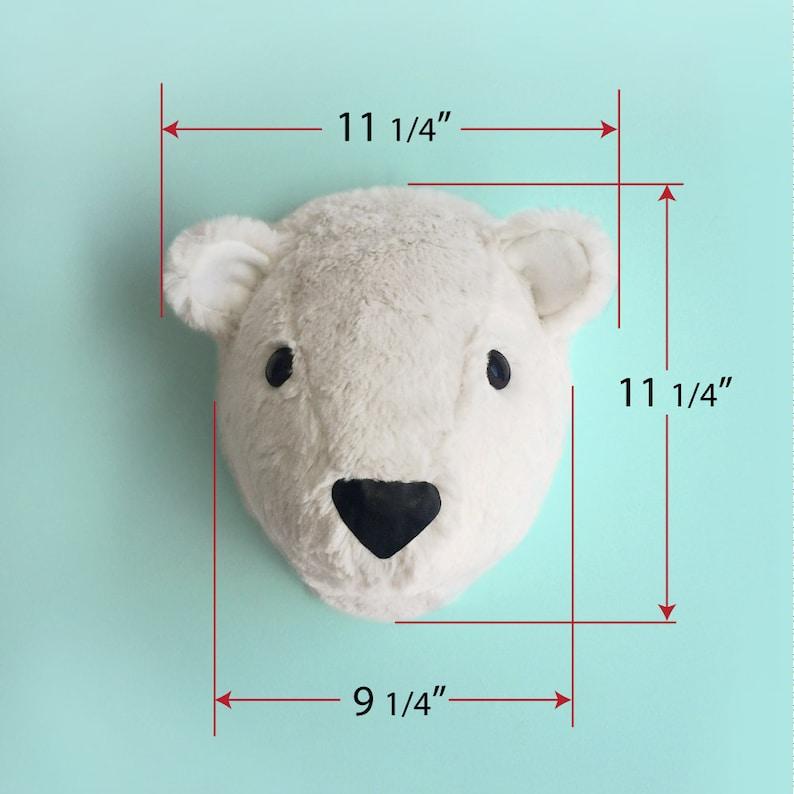 polar bear head nursery decor Polar bear head faux taxidermy kid room faux taxidermy bear head baby shower nursery wall decor