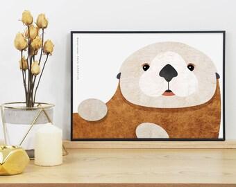 Sea Otter Graphic Print