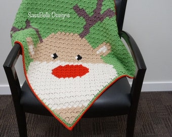 dcd04c7bc406f Rudolph Crochet Blanket (pattern by Repeat Crafter Me)