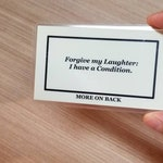 Joker Movie Laughter Condition Card