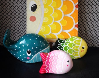 Peekaboo real color fish set