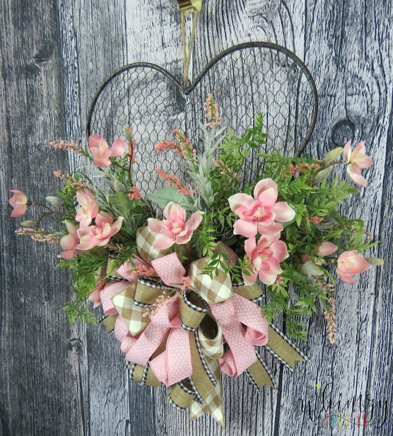 Wreath for Front Door-Spring Wreath-Farmhouse Wreath-Everyday Wreath-Rustic Wreath-Country Wreath-Year Round Wreath-Chicken Wire Wreath