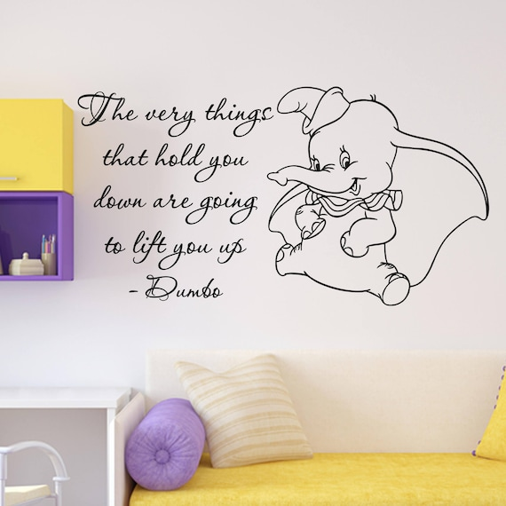 dumbo quote wall decal the very things walt disney lettering | etsy