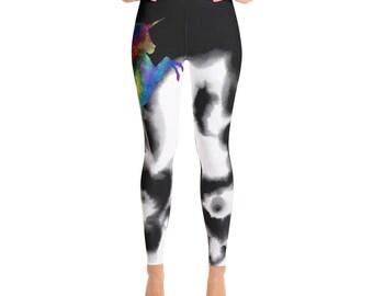 9ecd94f81e Unicorn yoga pants | Etsy