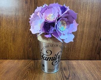 Shower favor Party Favor Hand Sculpted 3D Paper Flowers in Ceramic Vase Home Decor Mini Vase with Paper flower bouquet Center piece