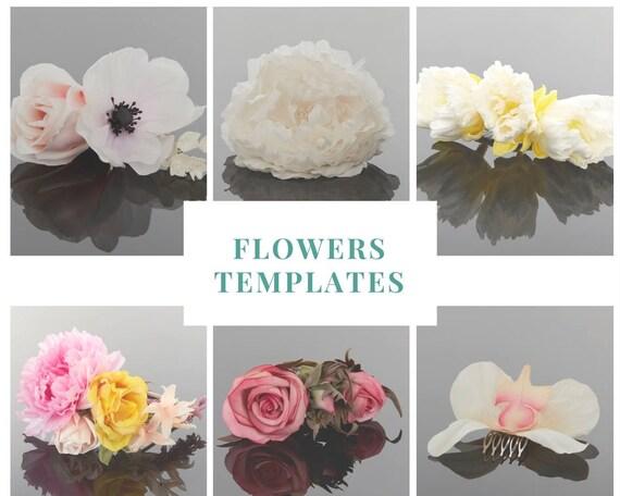 Silk Flower Template Paper Rose