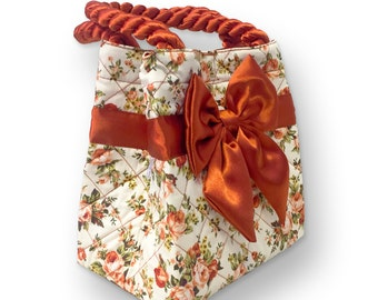 Liinda Floral Handbags, Tote Bag, Cotton Bag, Women item.