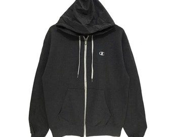8502686f4f9e Authentic CHAMPION PRODUCT USA Hoodie Box Logo Made In Honduras Gray Medium  Pullover Sweatshirt Jumper Reverse Weave