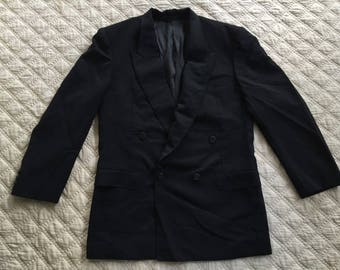 cfb475cdfa2 Vintage LANVIN PARIS 1 Button Blazer Solid Black Size 39 Jacket Coat Dinner  Mens