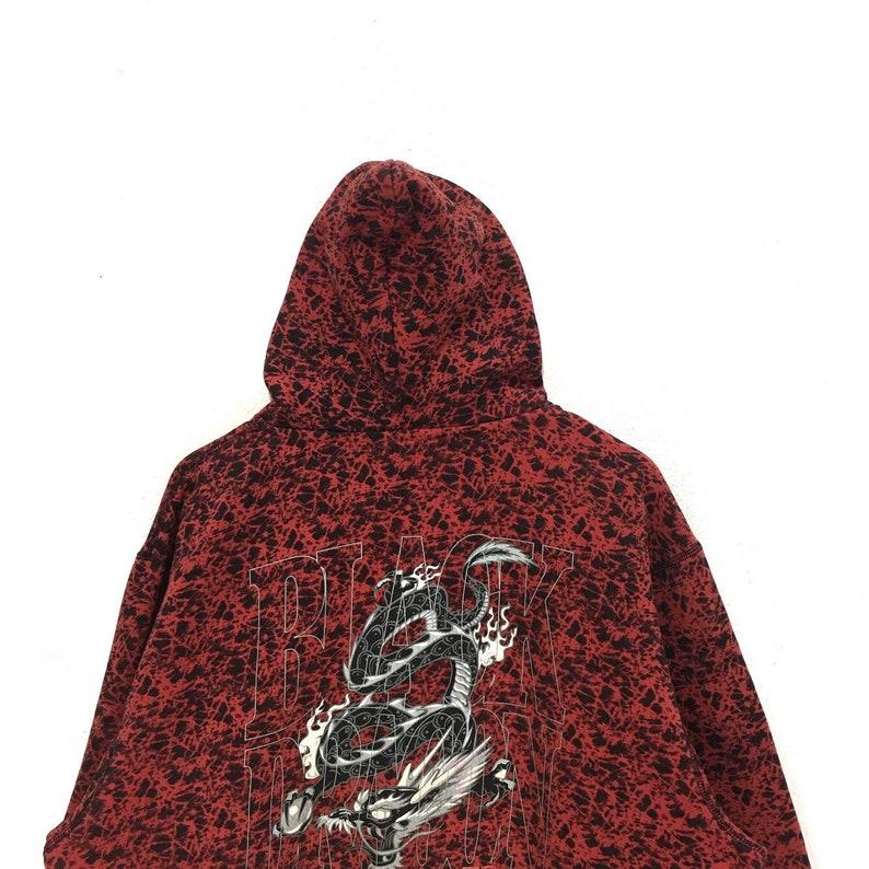 fee29e64205 Vintage DOGTOWN Hoodie Black Dragon SKATEBOARD Red Large | Etsy