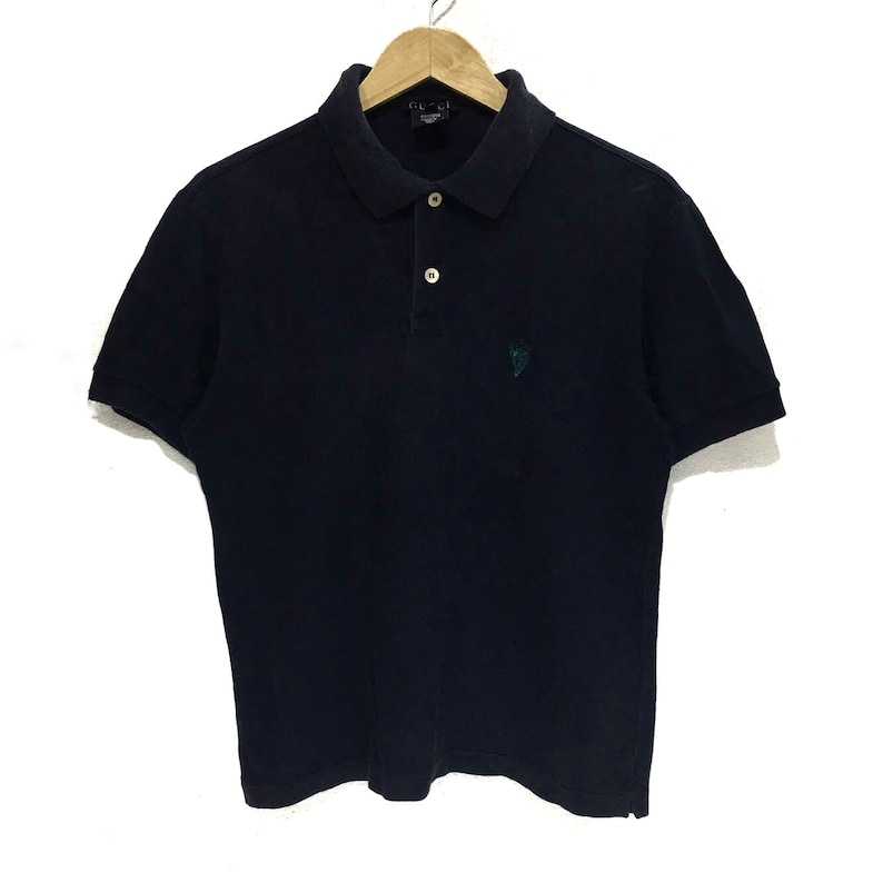 492be35b2fcb9 Vintage GUCCI Warriors Logo Polo Casual Tee Shirt Made In