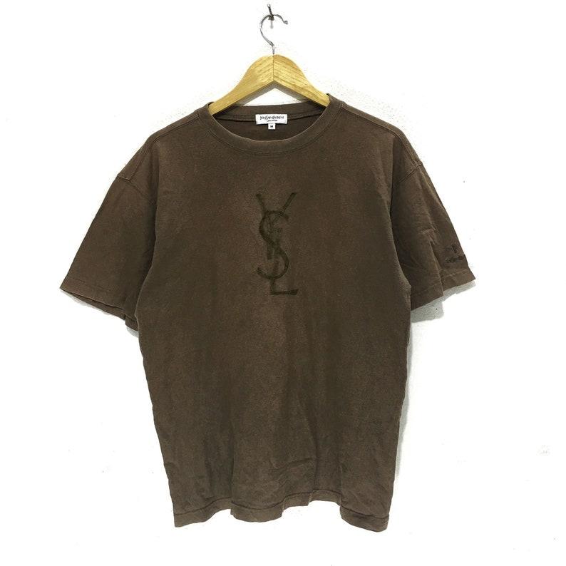 1eba66f94d7 YSL Yves Saint Laurent Paris Pour Homme Big Logo Embroidery   Etsy