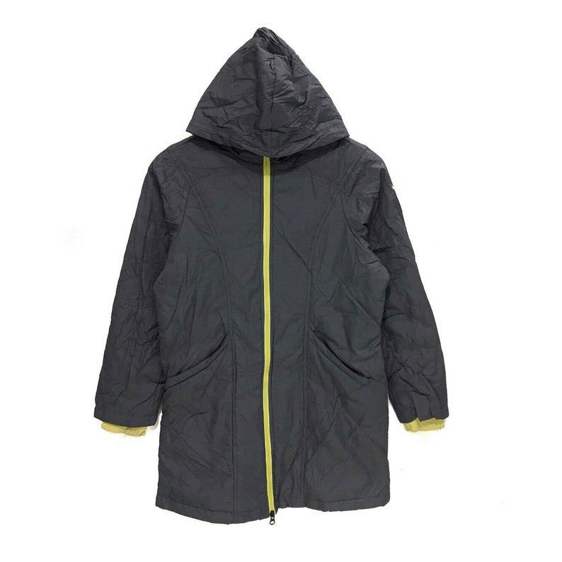 b39e2ad25b2a Vintage NIKE SWOOSH Logo Gray Windbreaker Raincoat Jacket