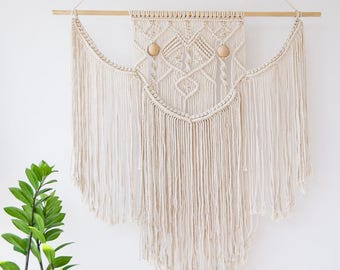 Large bohemian macrame wall hanging, Bohemian wall art, Macrame wall decor, Macrame Curtain, Wall Tapestry Modern Macrame, Mother's Day Gift