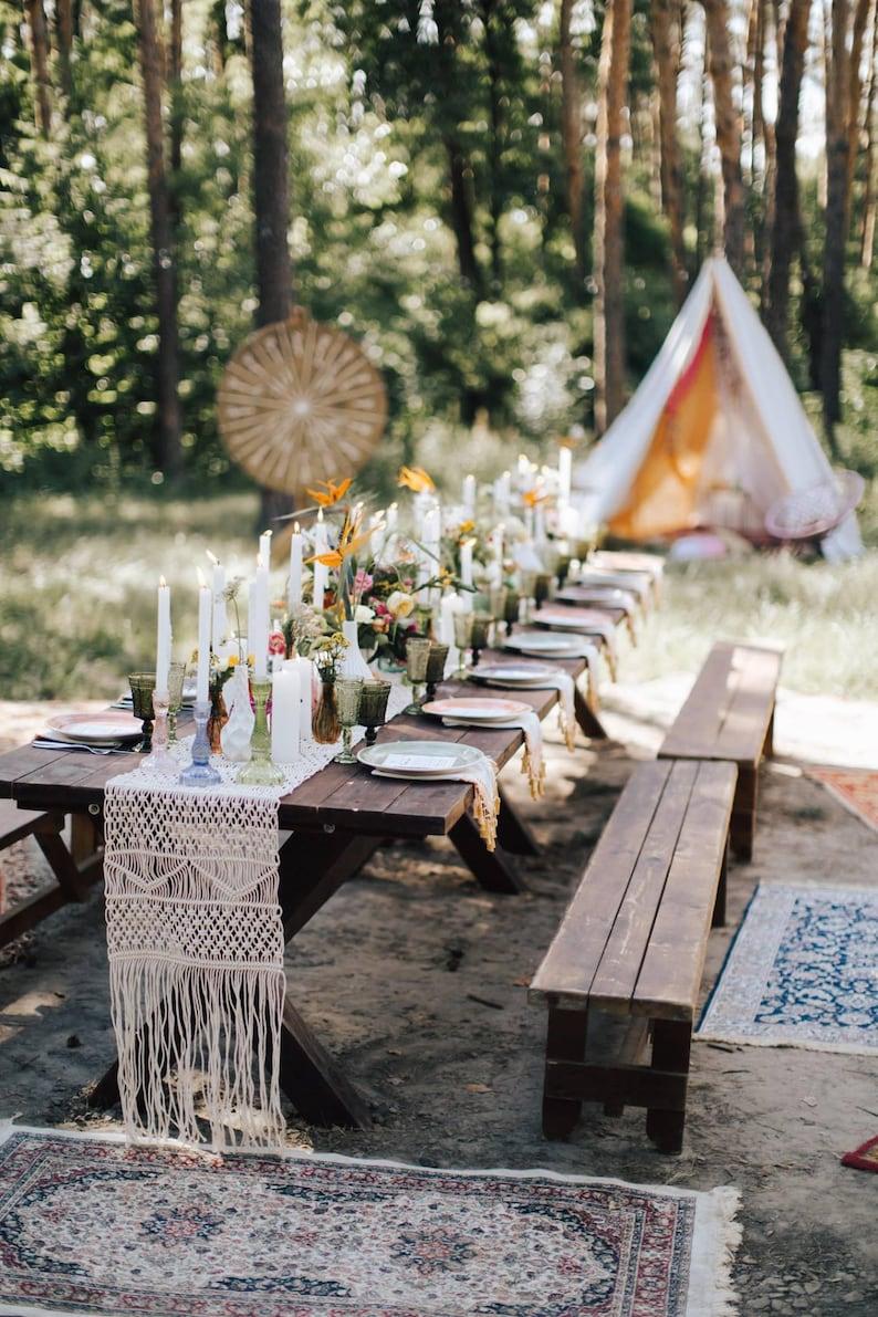 Tischläufer Makramee Hochzeit