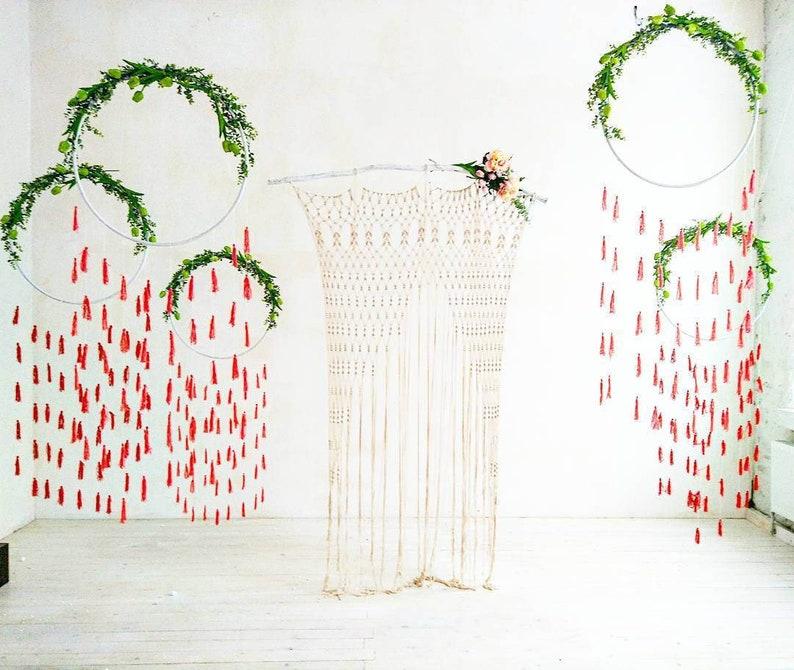 Macrame wedding backdrop Large bohemian Curtain Boho wedding Wedding ceremony arch Macrame curtain Macrame wedding arch
