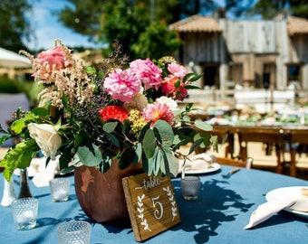 Ensemble de 15 mariage Table numéro signes, numéros de Table, mariage rustique Table numéros signes