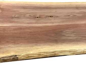 1 3/4 Inch Thick Live Edge Walnut Table Or Desk Top | Walnut Desktop |  Thick Walnut Bartop | Solid Walnut Island Top | Walnut Sofa Table Top
