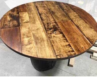 rustic round end table. 1\ Rustic Round End Table
